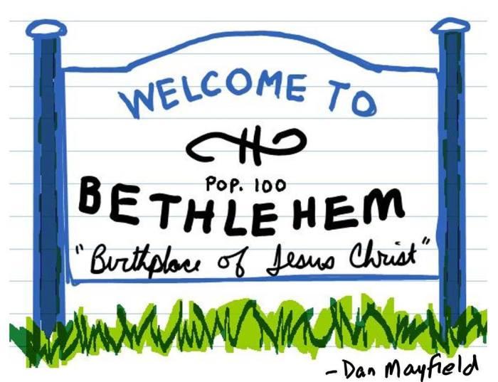 2016 bethlehem sign