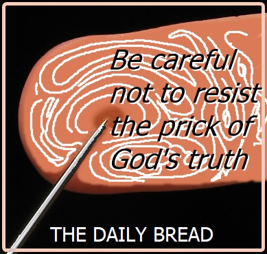 daily bread finger prick word