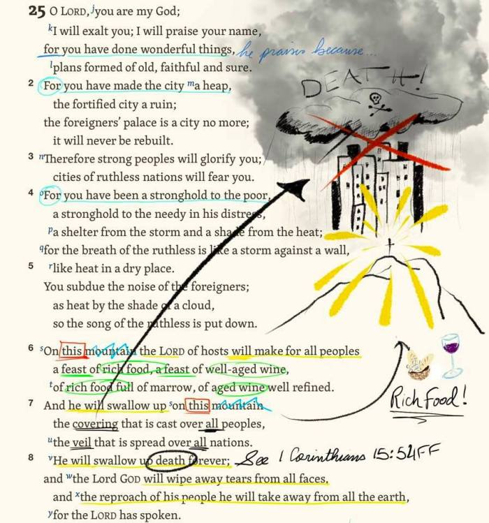 daniel isaiah 25 illustrated