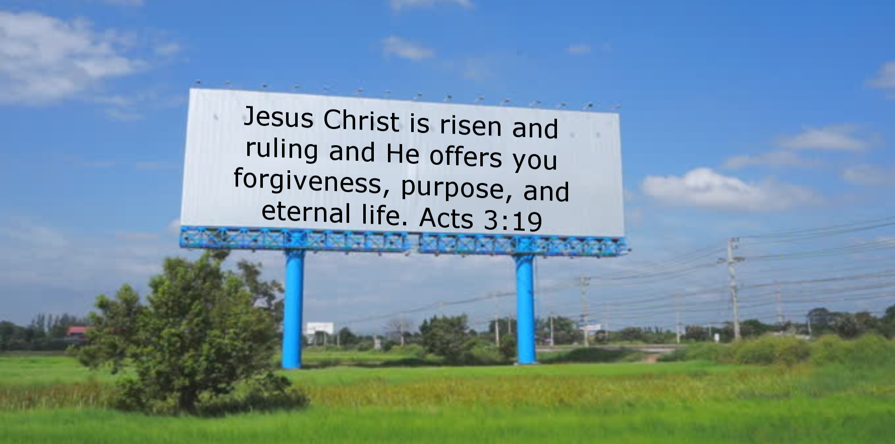 evangelism billboard sign