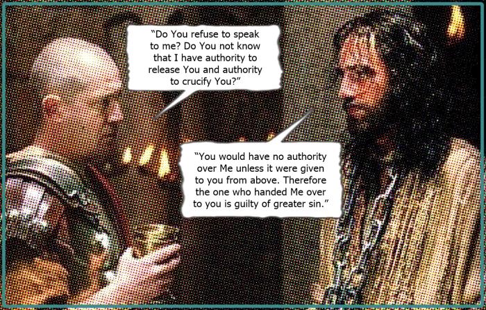 jesus and pilate authority