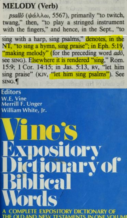psallo vines greek dictionary