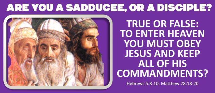 sadducees or disciples
